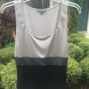 Express back and grey top